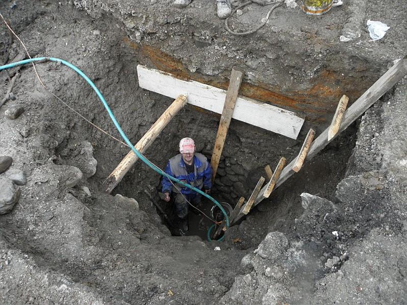 Výskumné práce v studni